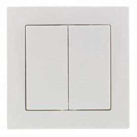 Wall Switch white, 2 buttons