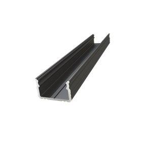 LED Profile black, 1m, 16x9.8mm
