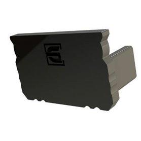 Profile Black End Cap, 16x9.8mm