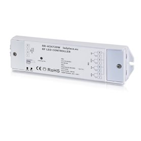 Wireless LED controller 12/24VDC LED 720W 4-channel RGBW
